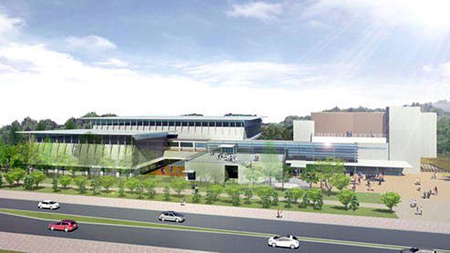 流山市総合運動公園 新体育館建設。