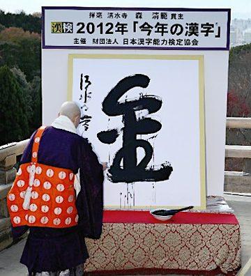 2012年の漢字は「金」。