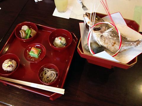 蕎麦と和食のお店「美晴」で、娘ちゃんの「お食い初め」。