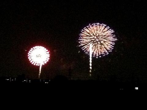 今年も近所で流山花火大会をみたよ。