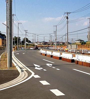 流山おおたかの森駅周辺に新道路が開通。