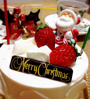 「patisserie Techi」のケーキでのんびりクリスマス。
