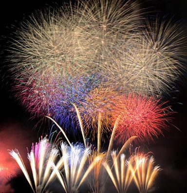 「流山花火大会」花火と一緒に感謝の気持ちやプロポーズメッセージを。