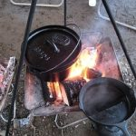 ダッチオーブンでキャンプ飯