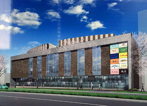 流山おおたかの森東口に新しい商業施設建設予定。