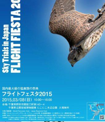 おおたかの森住民は必見?野田市にて猛禽類の祭り「フライトフェスタ2015」開催。