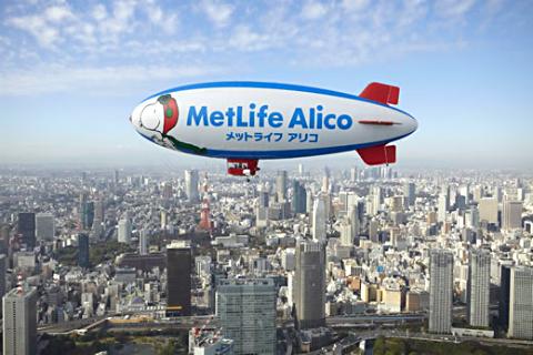 メリットライフ飛行船