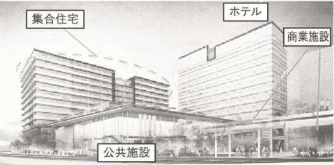 流山おおたかの森駅北口開発は2019年春開業予定。