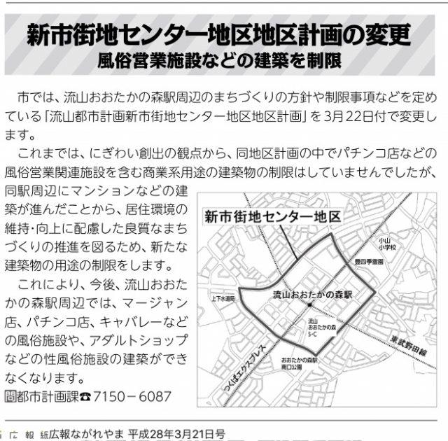 流山都市計画新市街地センター地区地区計画