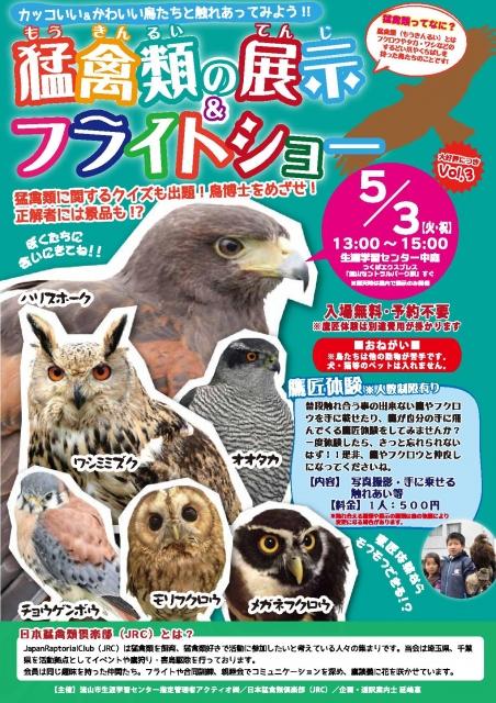猛禽類の展示&フライトショー