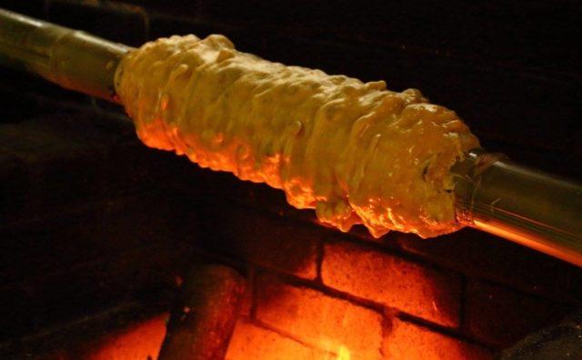 手作りバームクーヘン体験。想像以上に美味しかった。