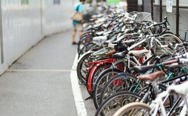流山おおたかの森駅の待機自転車状況。