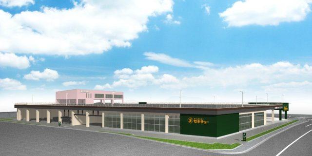 千葉県初の屋上スカイコース。「流山自動車学校」は12月に移転。