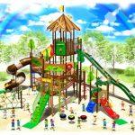 流山総合運動公園に大型遊具設置