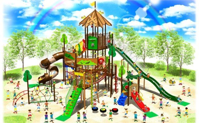 ふるさと納税で流山総合運動公園に大型遊具設置へ協力。