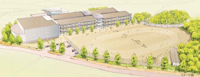 森の中の木の学び舎 流山市新設小学校基本設計案。