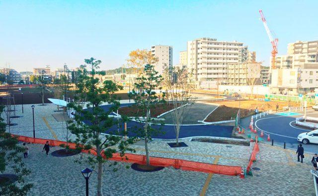 流山おおたかの森西口駅前広場が11月1日より拡張切替。