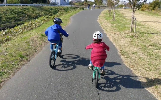のんびり自転車を楽しむ 大堀川水辺ルートでポタリング。