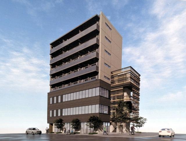 流山おおたかの森西口に8階建て共同ビル